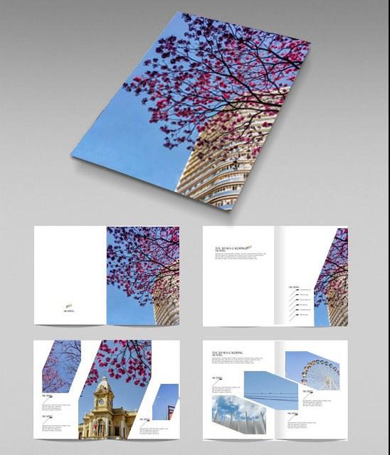 日韩清新画册设计